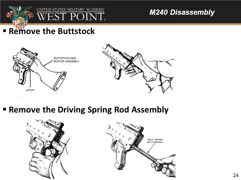 Remove the Driving Spring Rod Assembly