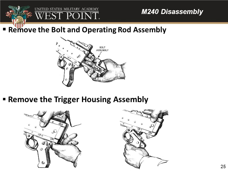 Remove the Bolt and Operating Rod Assembly