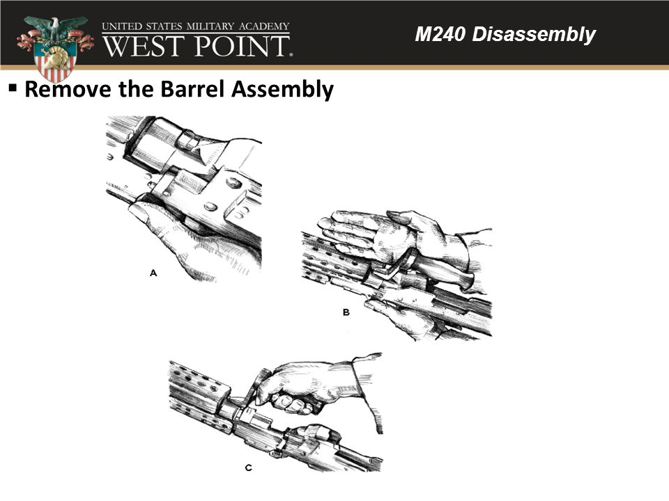 Remove the Barrel Assembly