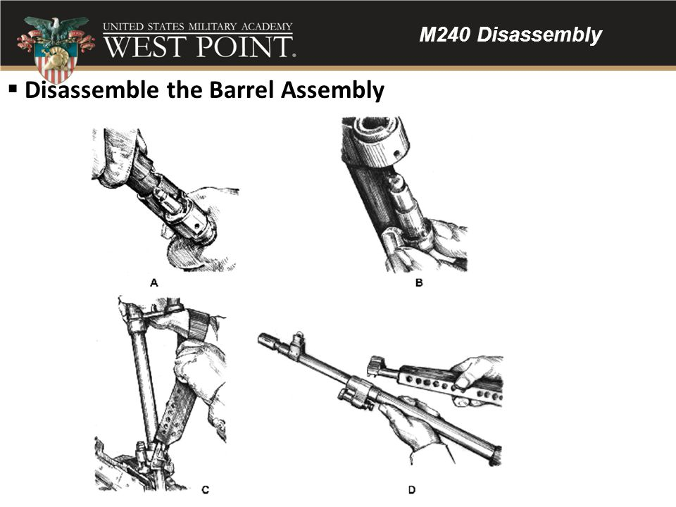 Disassemble the Barrel Assembly