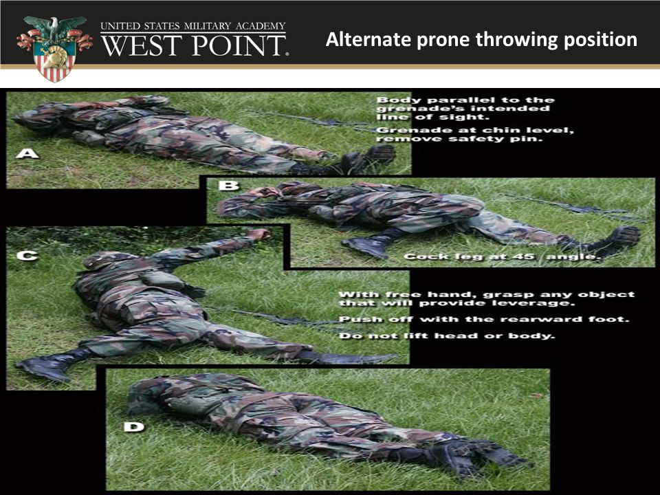 Alternate prone throwing position