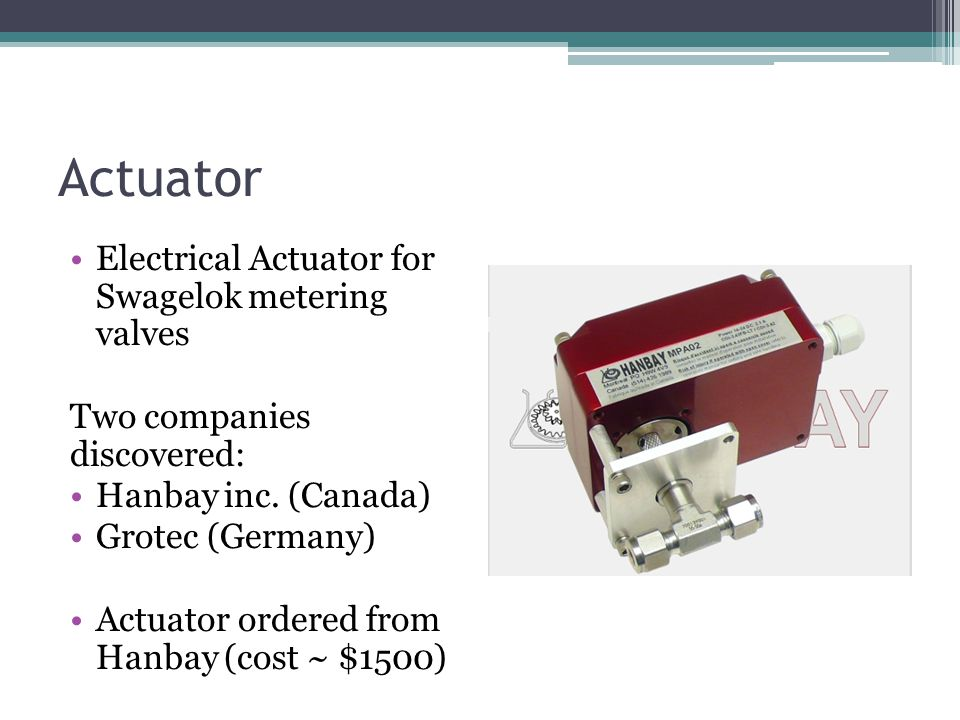 Actuator Electrical Actuator for Swagelok metering valves