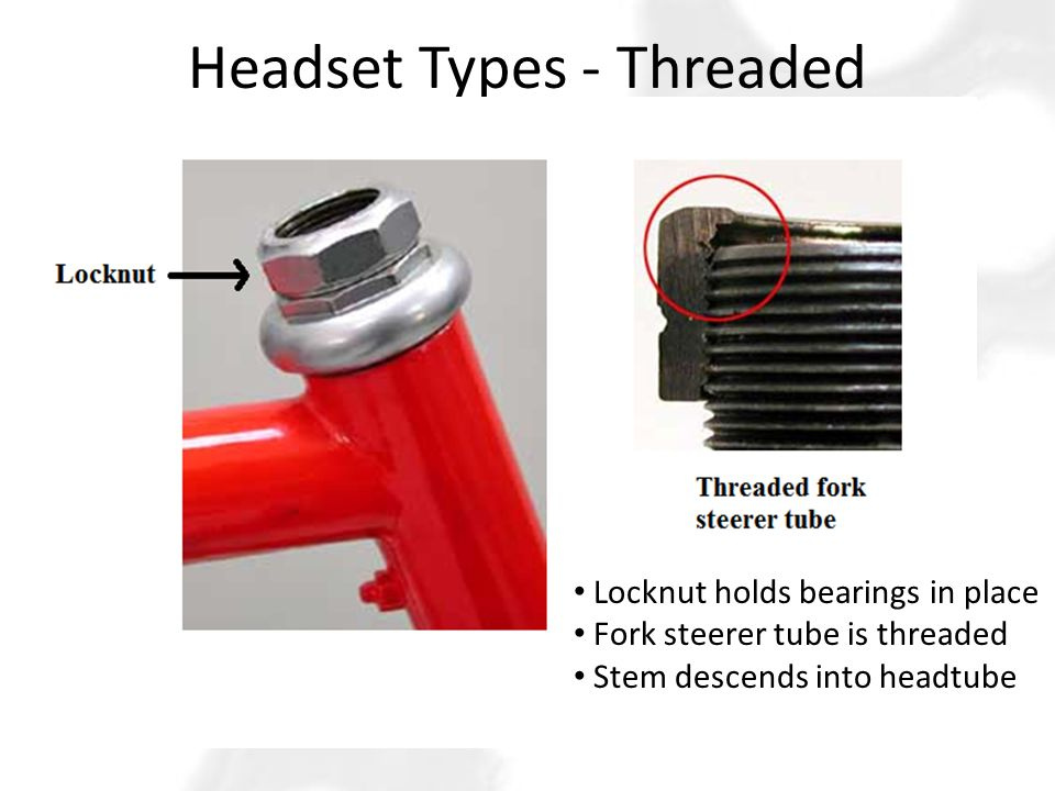 Headset Types - Threaded