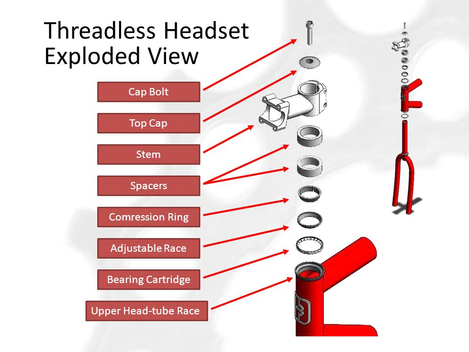 Threadless Headset Exploded View