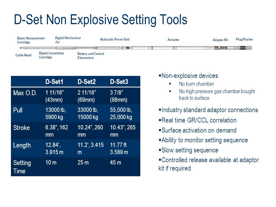 D-Set Non Explosive Setting Tools