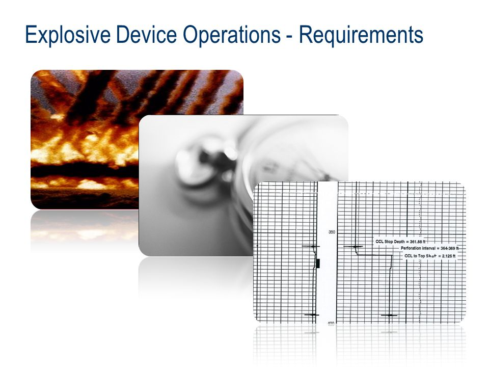 Explosive Device Operations - Requirements