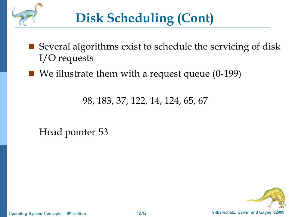 Disk Scheduling (Cont)