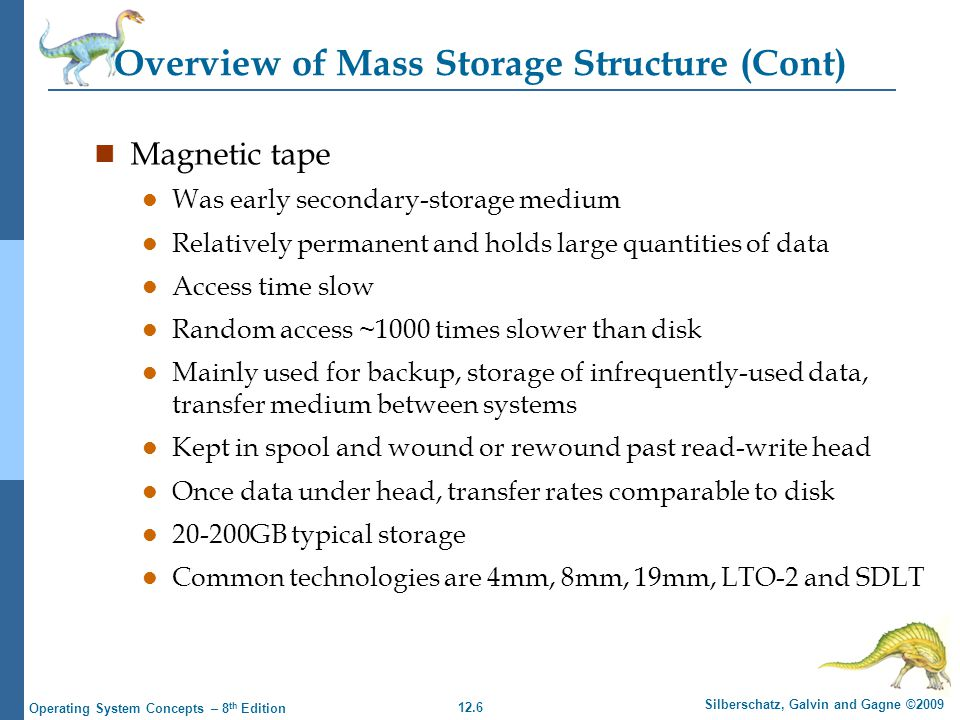 Overview of Mass Storage Structure (Cont)