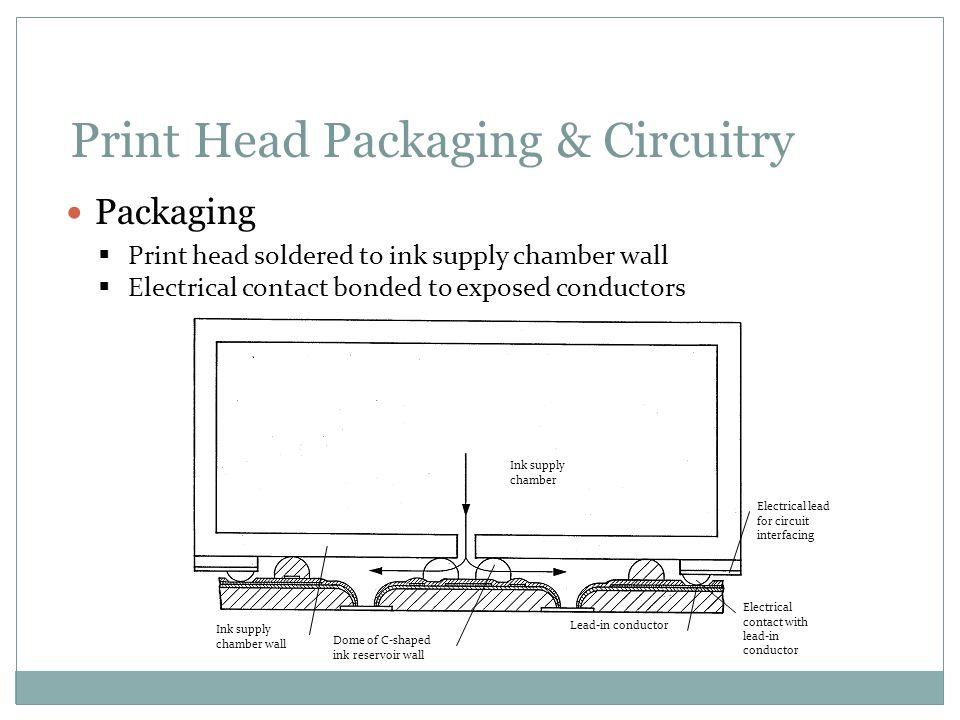 Print Head Packaging & Circuitry