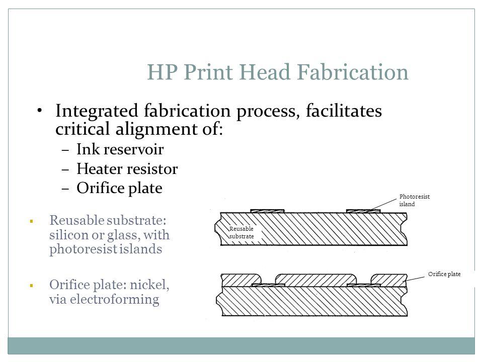 HP Print Head Fabrication