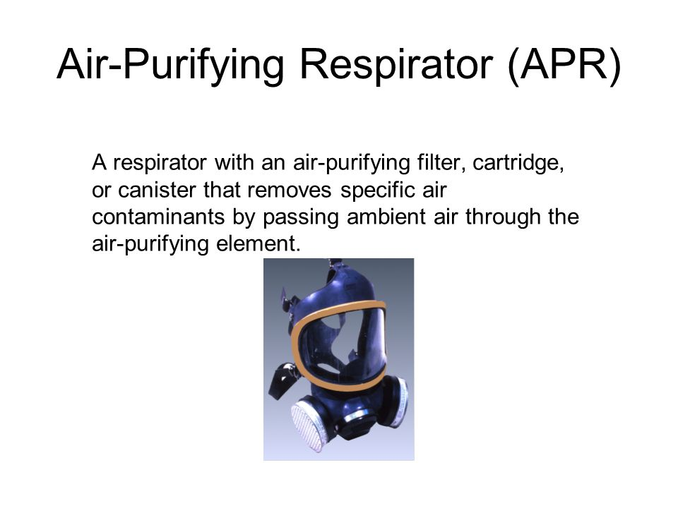 Air-Purifying Respirator (APR)