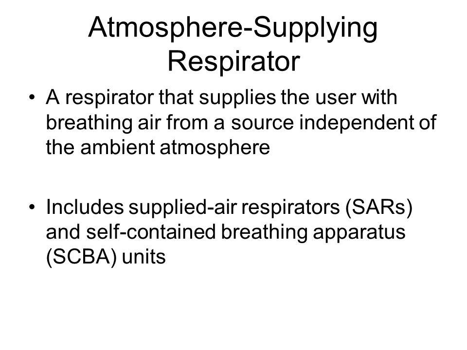 Atmosphere-Supplying Respirator