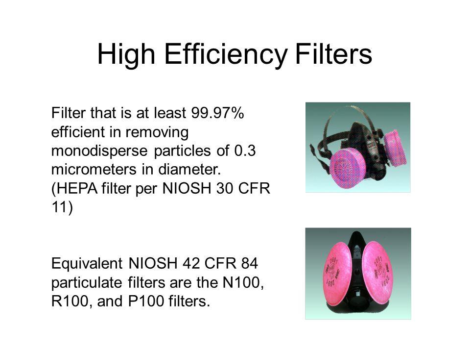 High Efficiency Filters