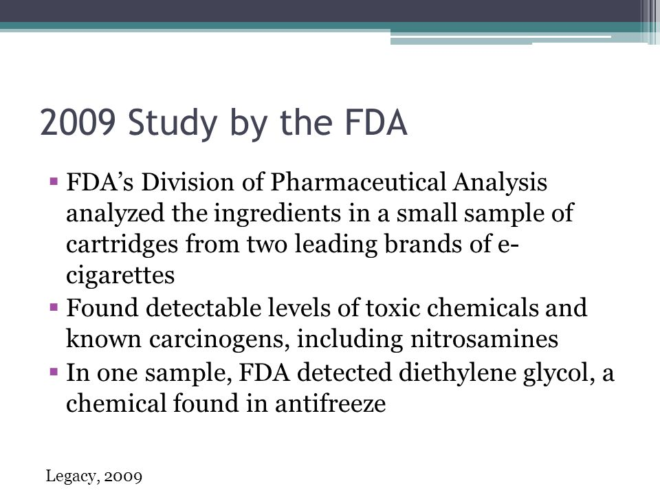 2009 Study by the FDA