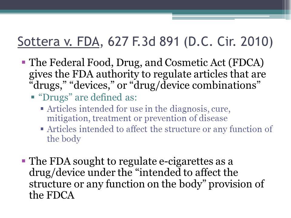 Sottera v. FDA, 627 F.3d 891 (D.C. Cir. 2010)