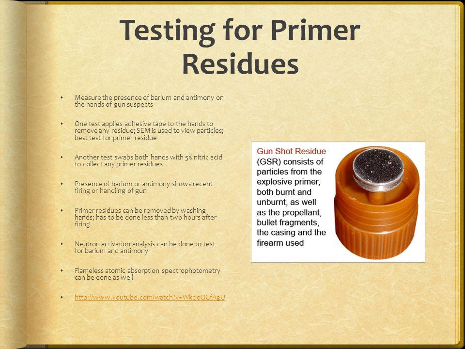 Testing for Primer Residues