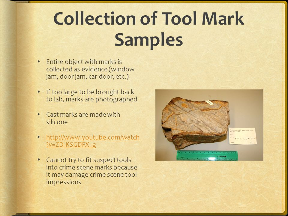 Collection of Tool Mark Samples