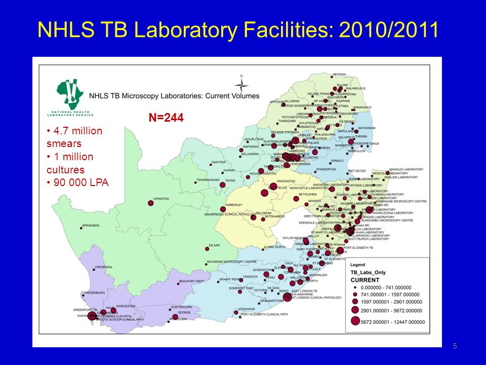 NHLS TB Laboratory Facilities: 2010/2011