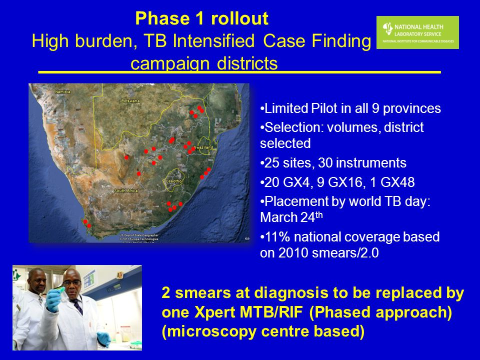 Phase 1 rollout High burden, TB Intensified Case Finding campaign districts