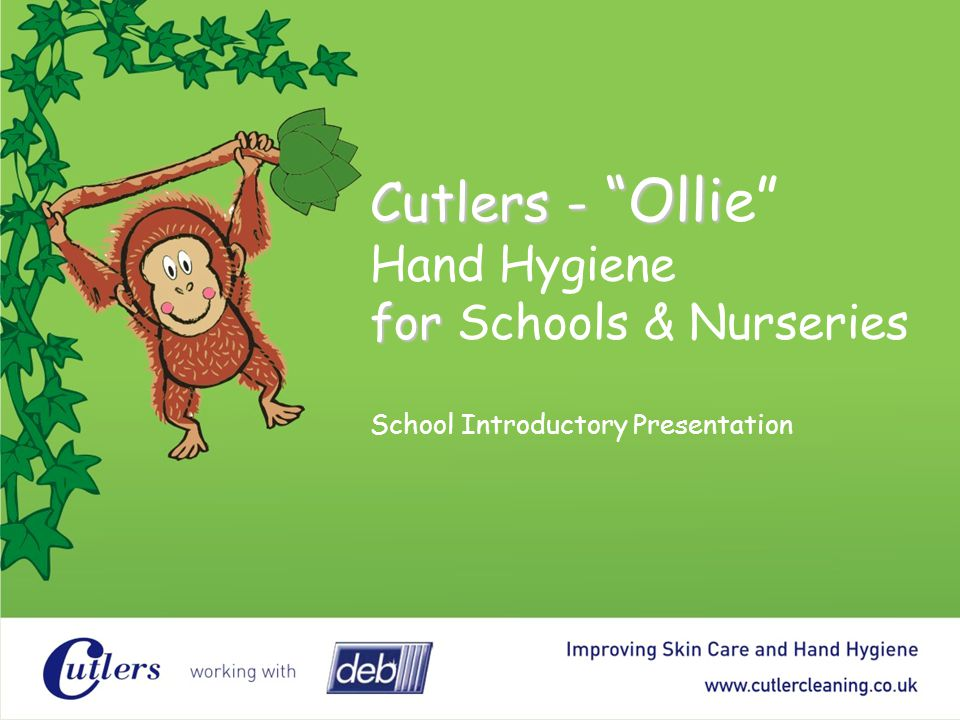 Cutlers - Ollie Hand Hygiene for Schools & Nurseries School Introductory Presentation