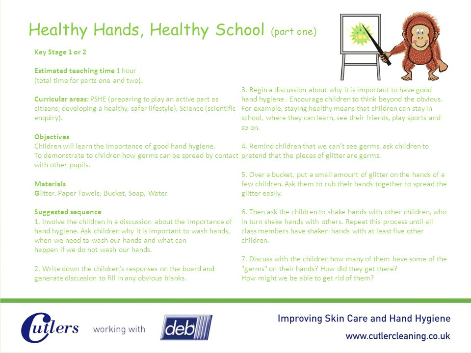 Healthy Hands, Healthy School (part one)