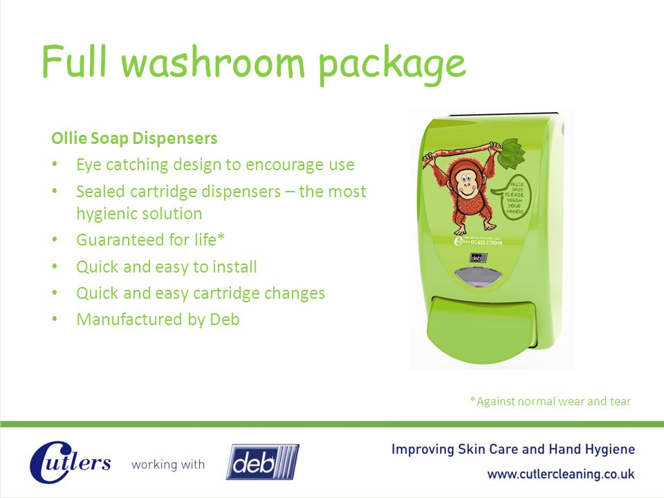Full washroom package Ollie Soap Dispensers