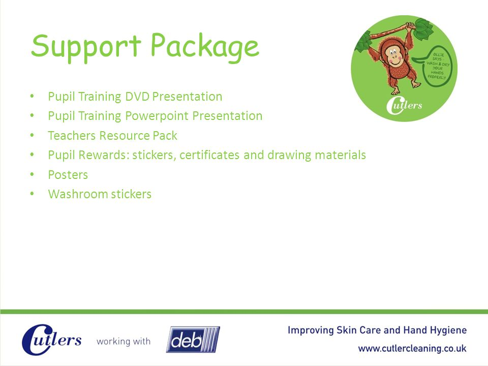 Support Package Pupil Training DVD Presentation