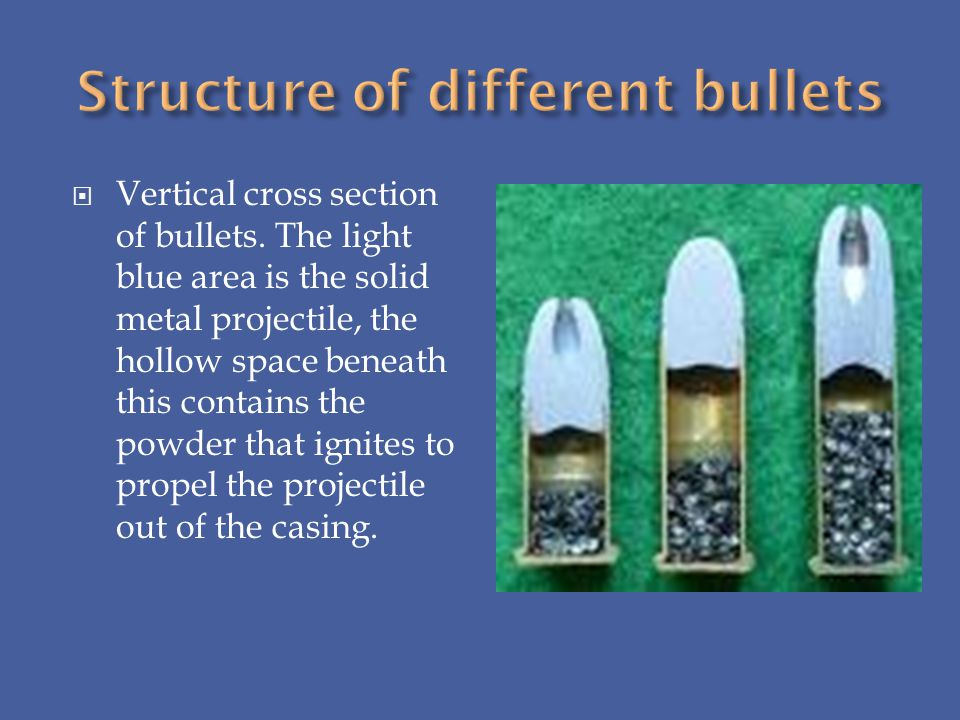 Structure of different bullets