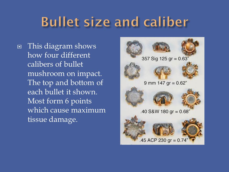 Bullet size and caliber