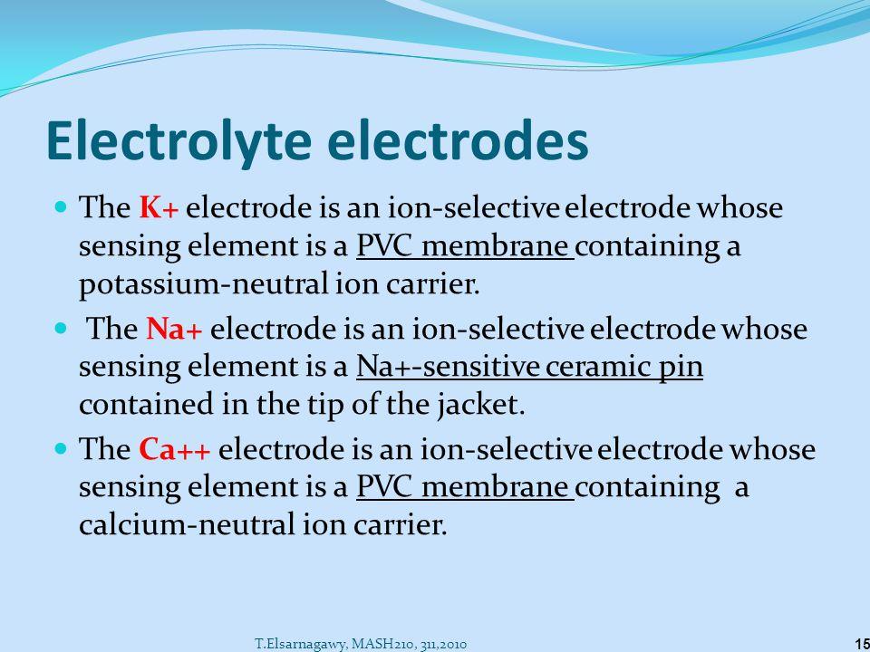 Electrolyte electrodes