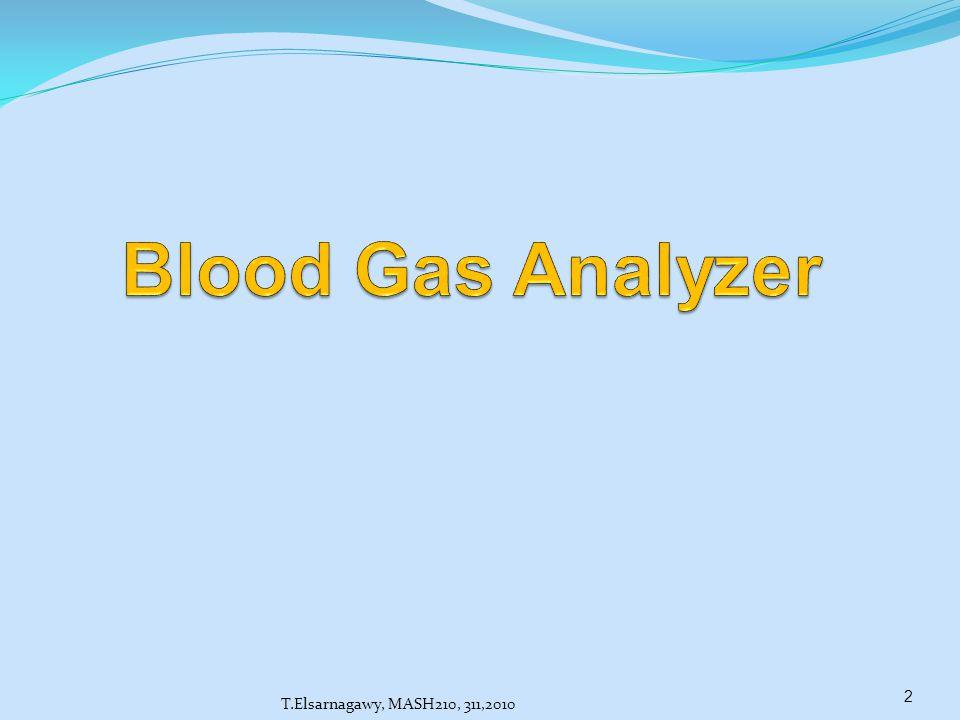 Blood Gas Analyzer T.Elsarnagawy, MASH210, 311,2010