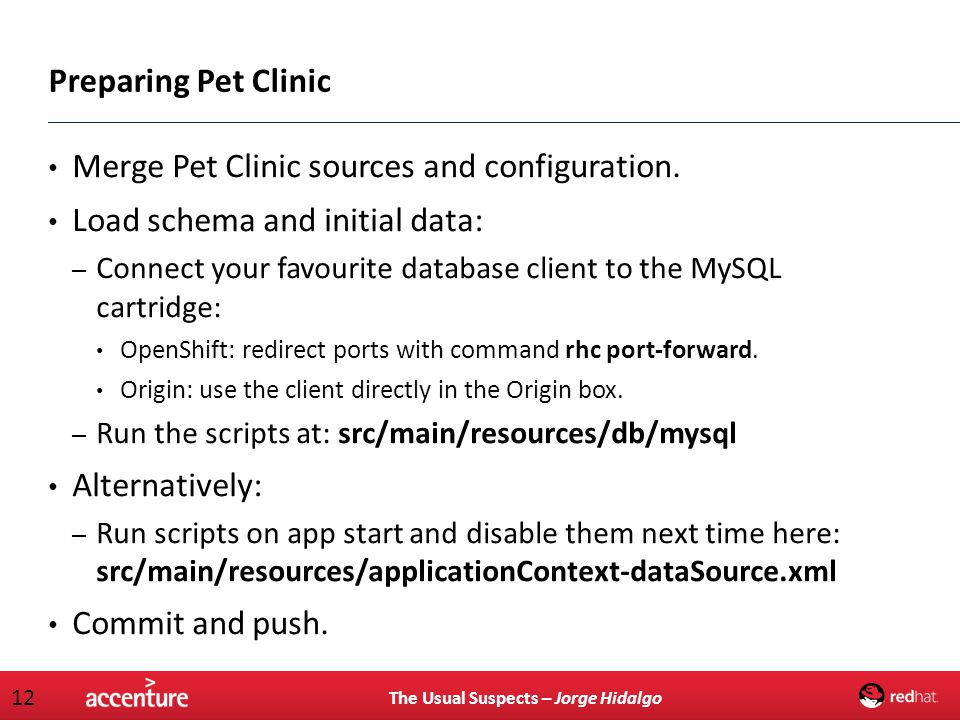 Merge Pet Clinic sources and configuration.