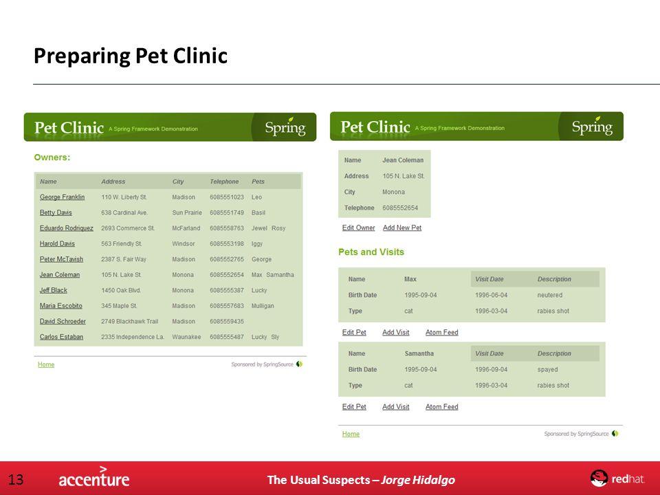 Preparing Pet Clinic