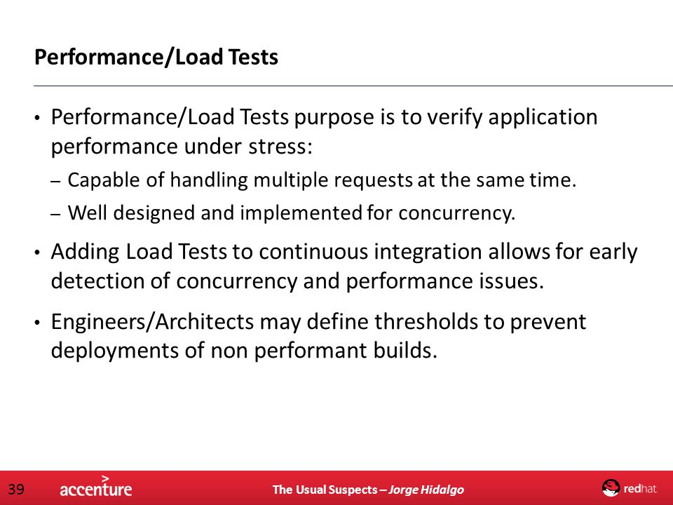 Performance/Load Tests