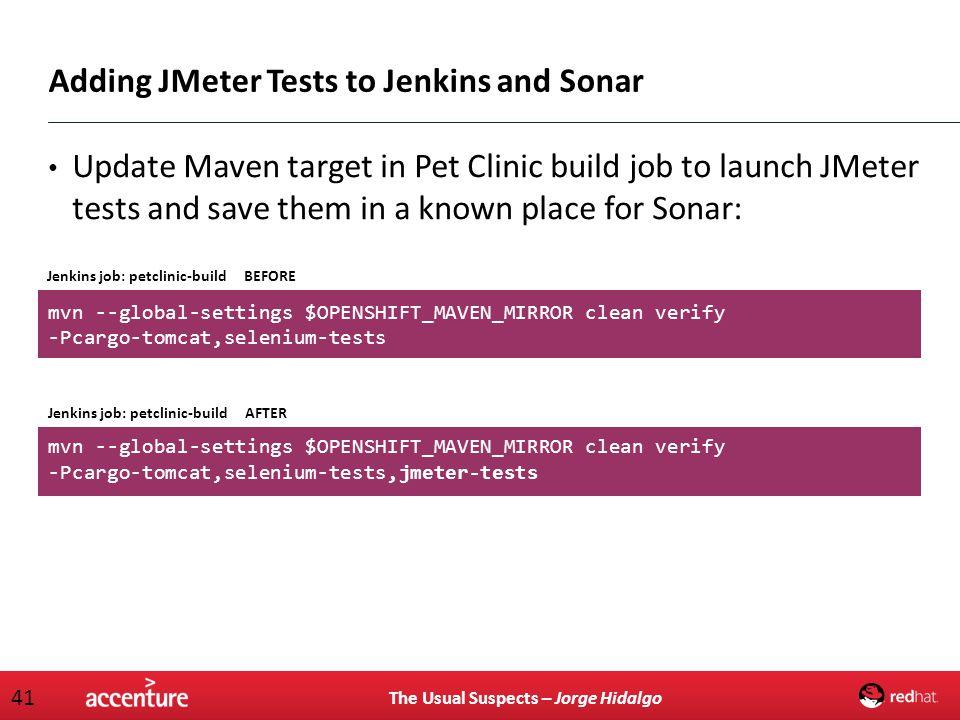 Adding JMeter Tests to Jenkins and Sonar