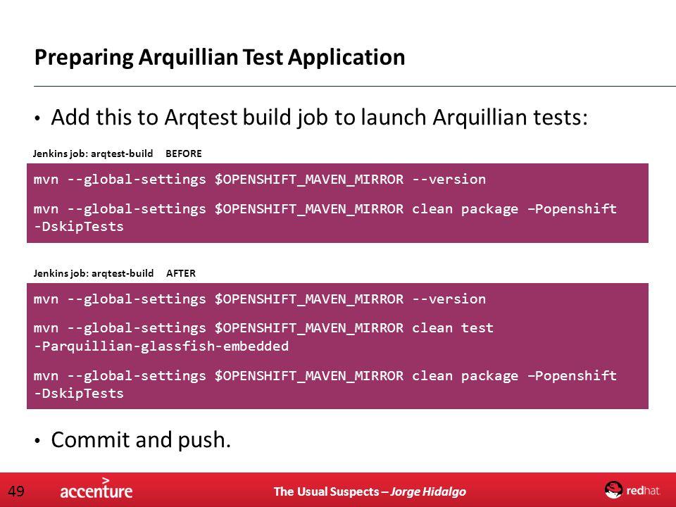 Preparing Arquillian Test Application