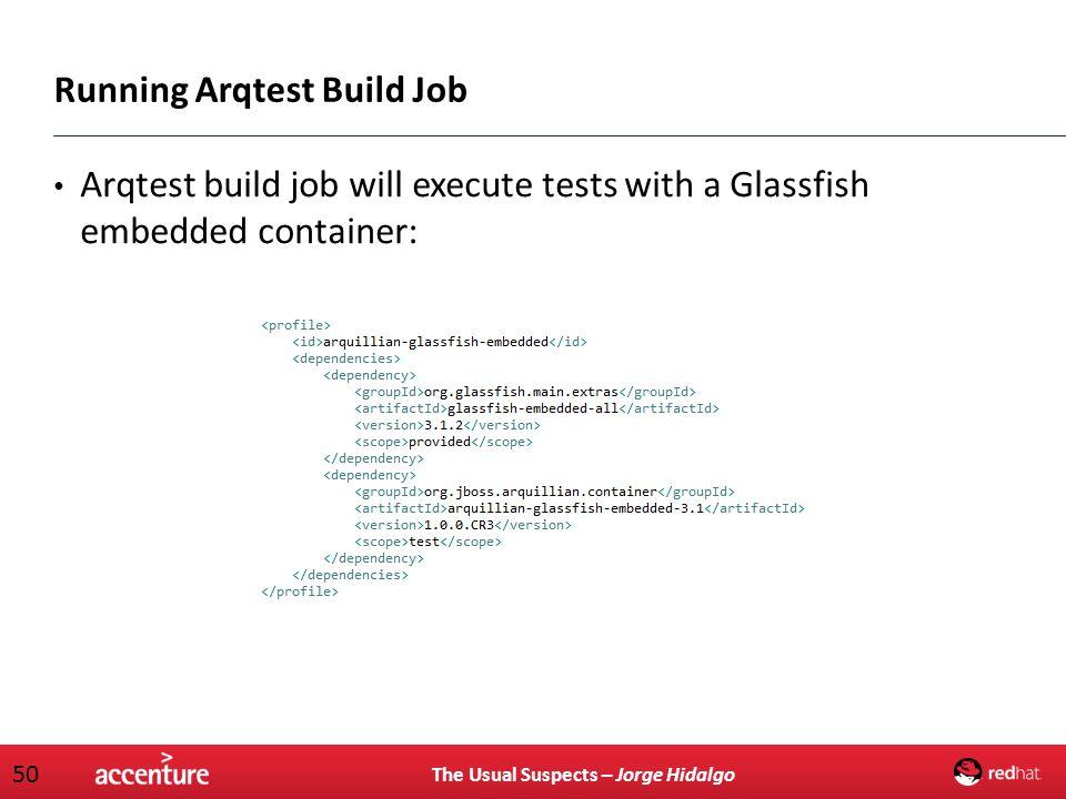 Running Arqtest Build Job