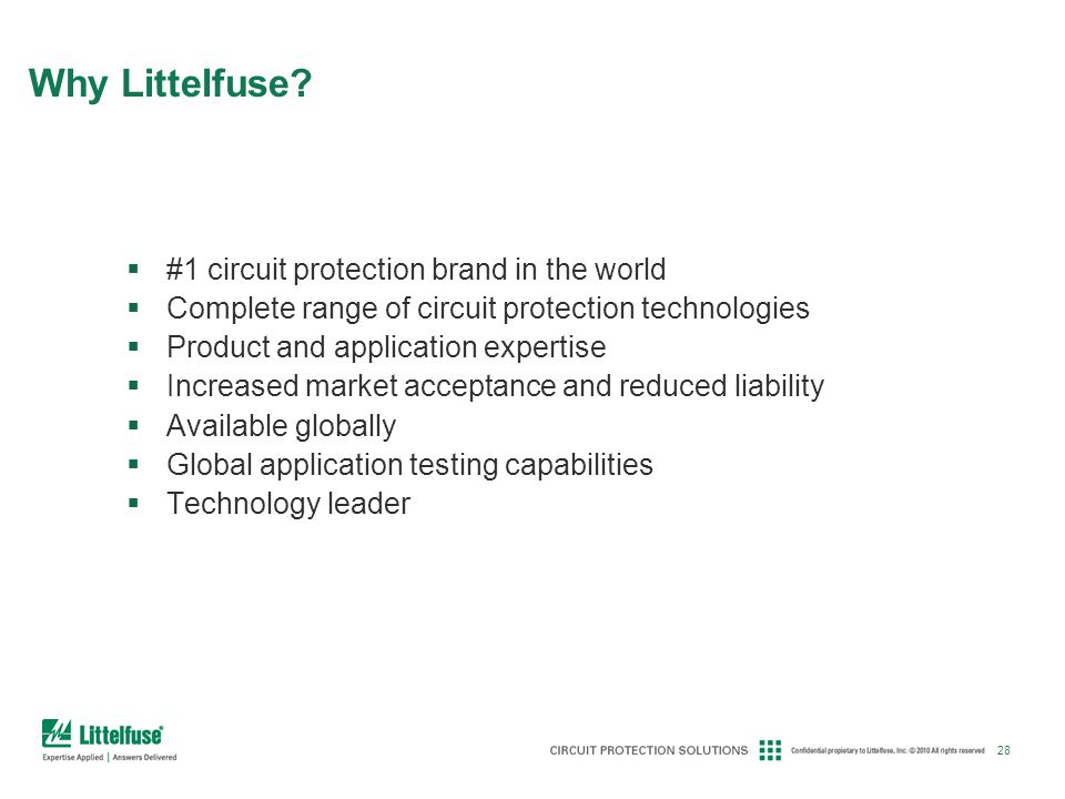 Why Littelfuse #1 circuit protection brand in the world