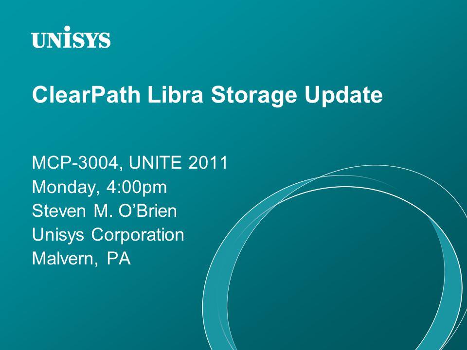 ClearPath Libra Storage Update