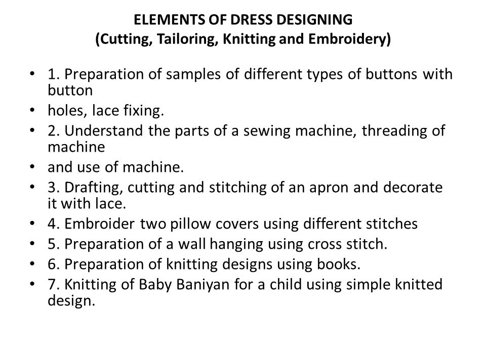 1. Preparation of samples of different types of buttons with button