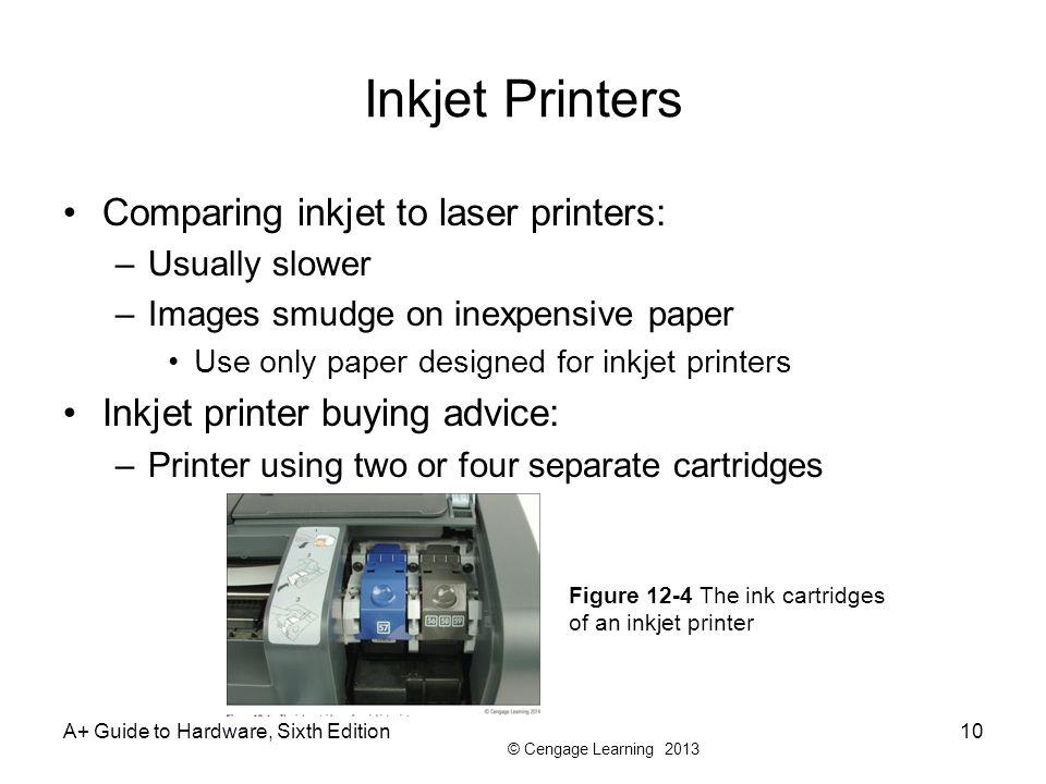 Inkjet Printers Comparing inkjet to laser printers: