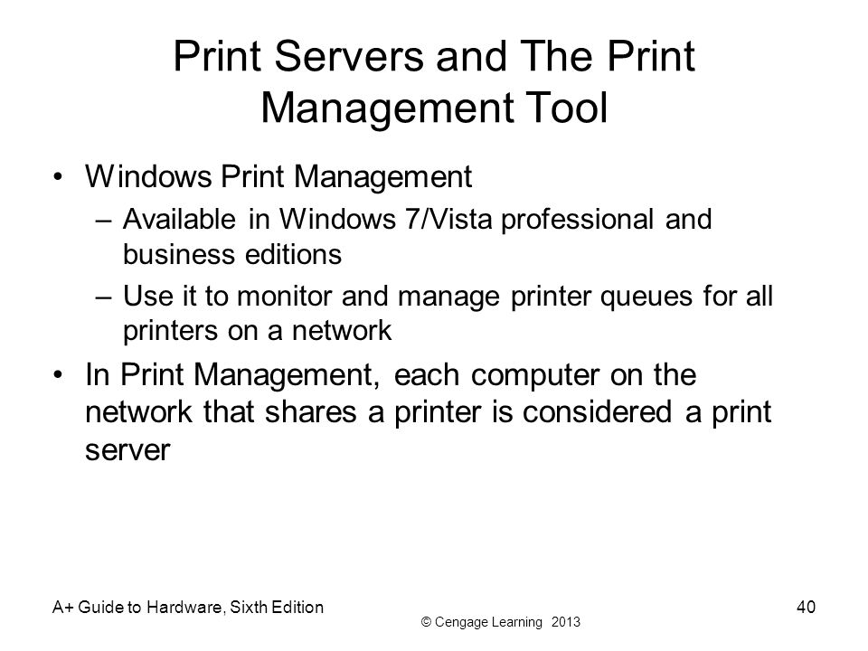 Print Servers and The Print Management Tool