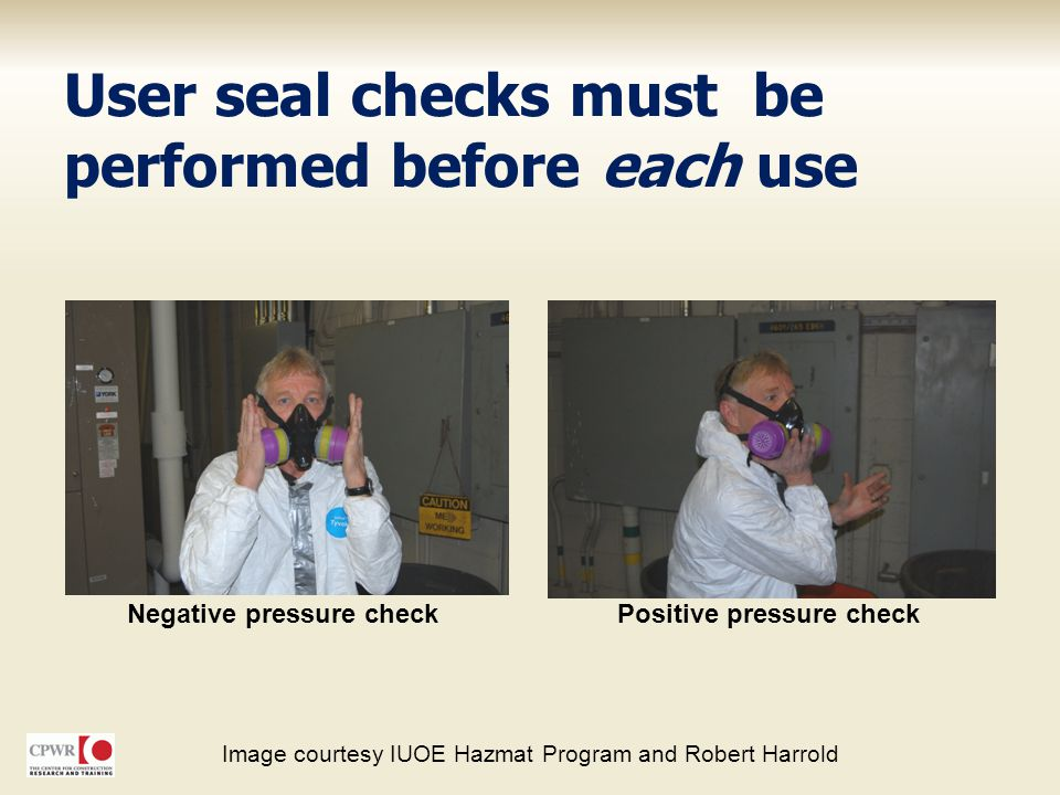 User seal checks must be performed before each use