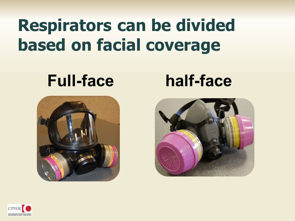 Respirators can be divided based on facial coverage