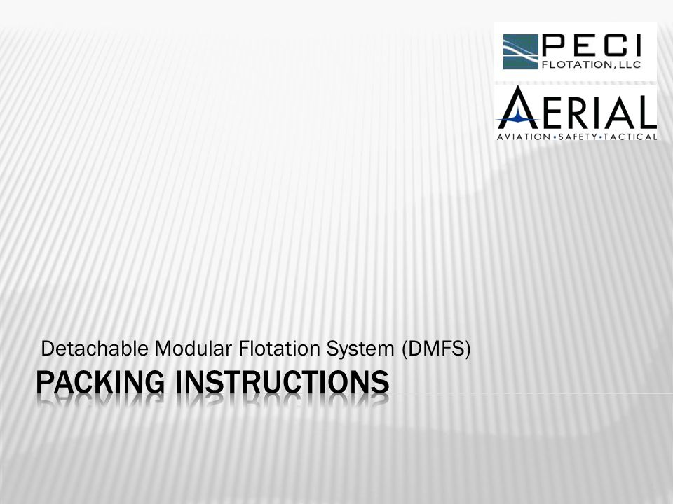Detachable Modular Flotation System (DMFS)