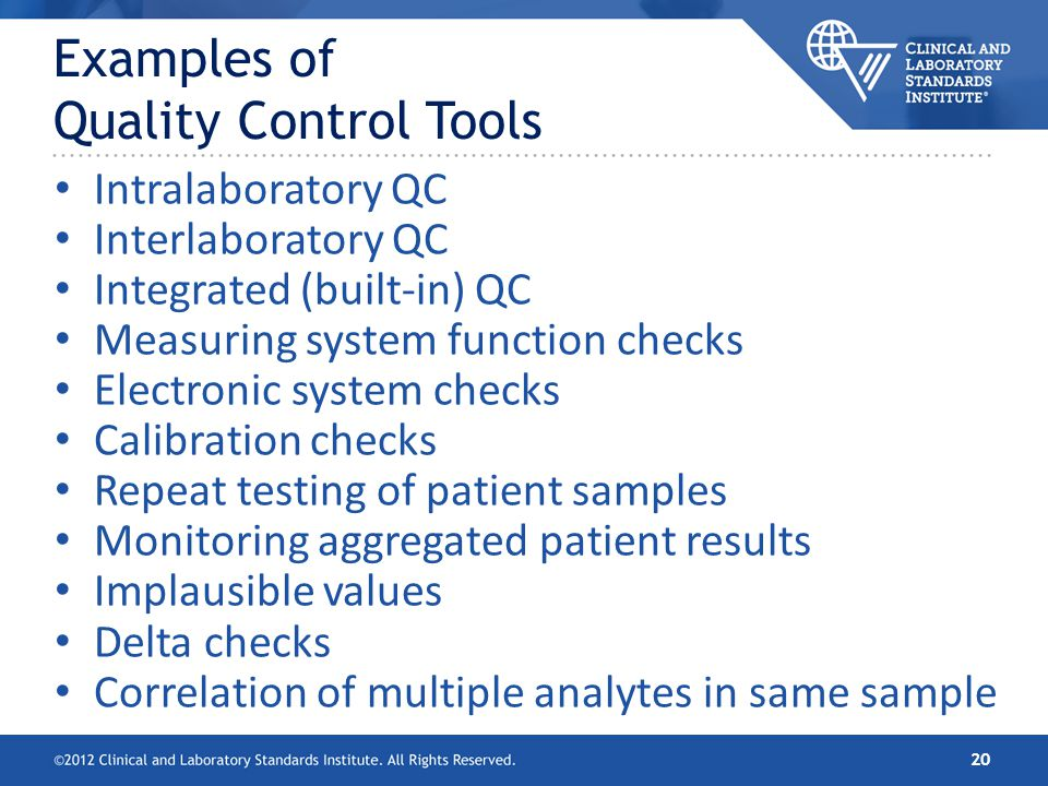 CLSI EP23™—Laboratory Quality Control Based on Risk Management ...