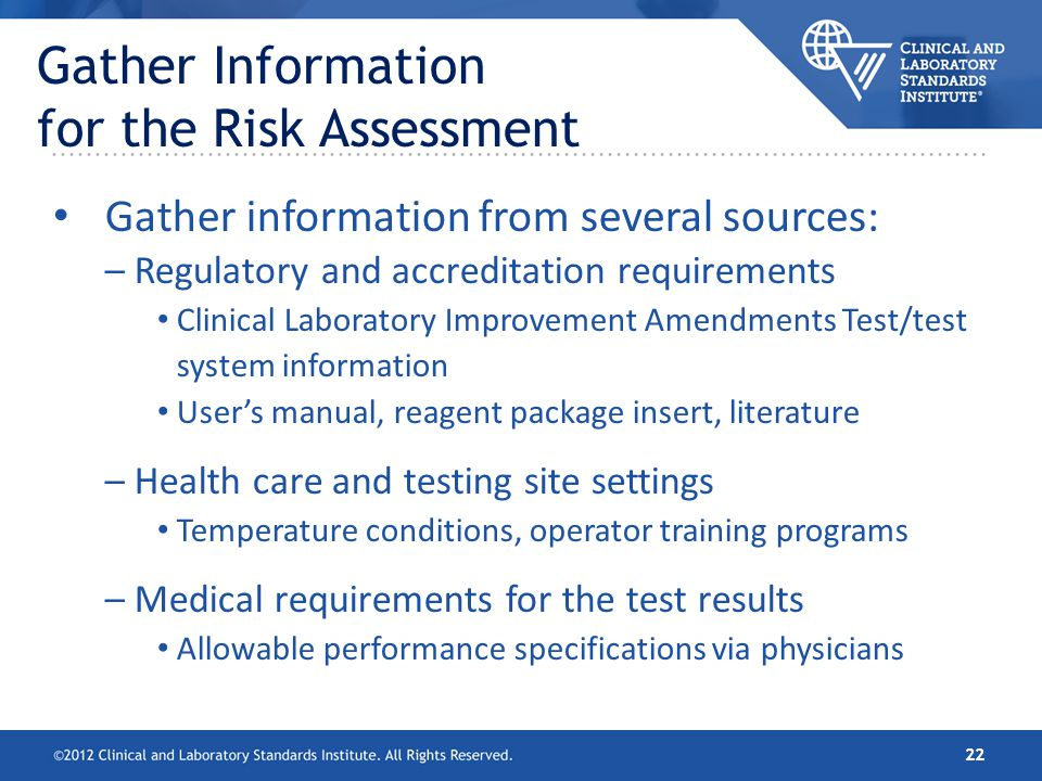Gather Information for the Risk Assessment