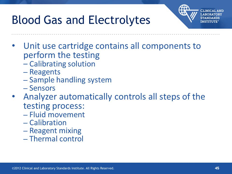 Blood Gas and Electrolytes