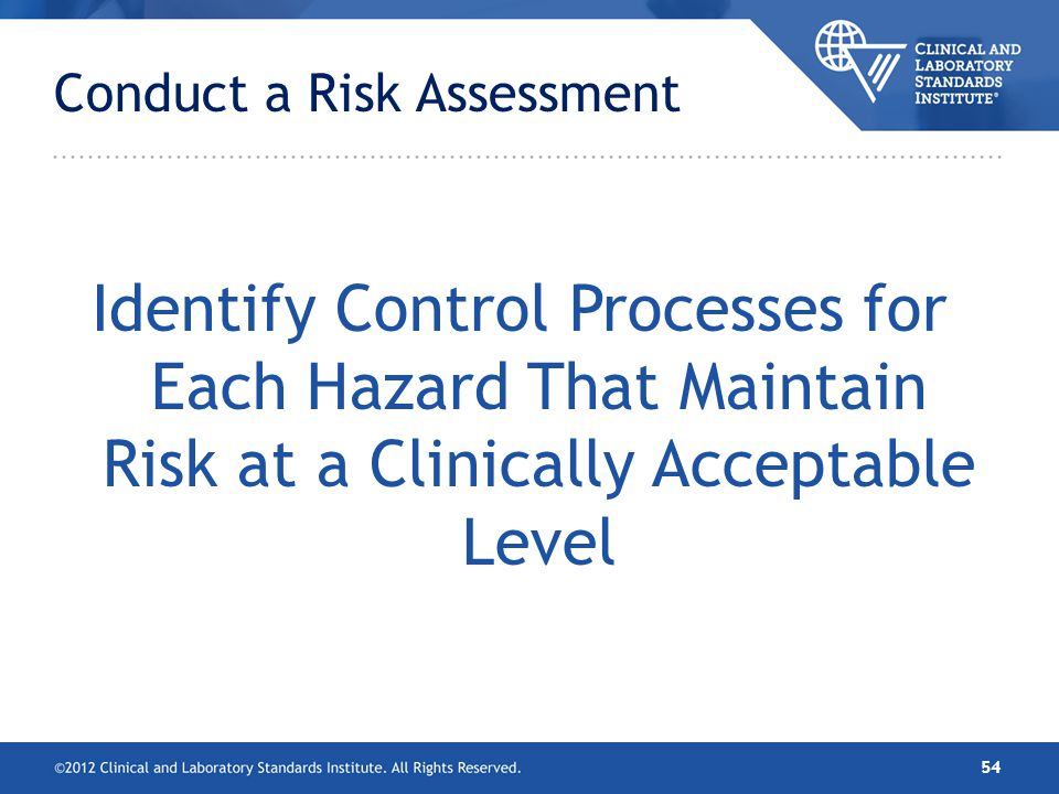 Conduct a Risk Assessment