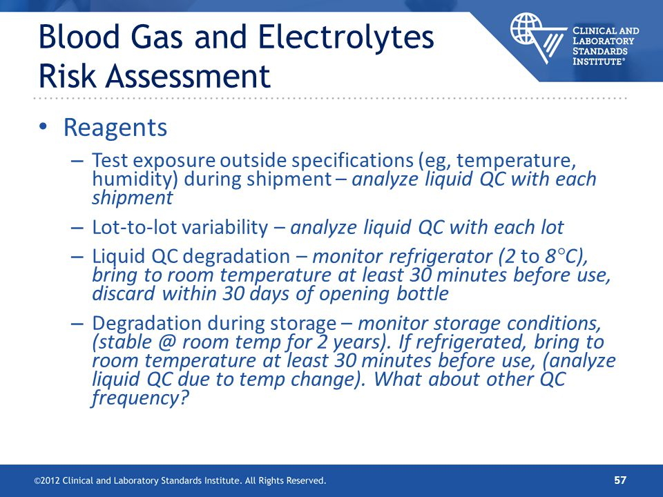 Blood Gas and Electrolytes Risk Assessment